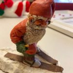 #101 SOLD Santa on Ski from the Sundial Shop repaired $5.00