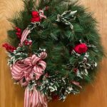 #108 SOLD Artificial Christmas Wreath $20.00