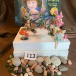 #113 SOLD Build Your Own Fairy Garden with the book and several figures $20.00