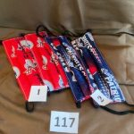 #117 Patriots Face Masks  #1 red  #2 blue  $5.00 each