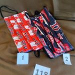 #118  Red Sox Face Masks  #1 red #2 Blue  $5.00 each
