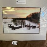 #119 SOLD  John Gill's Photography  A Vermont Winter Evening  $35.00