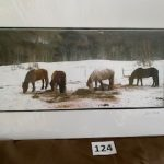 #124 SOLD John Gill Photography   Horses in the Snow  $35.00