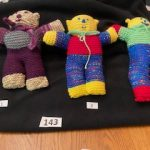 "#143 12"" Knitted Bears made by Stitches of Love knitters $10.00 each"