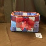 "#27 Quilted Storage Box 8""x9""x6"" $5.00"