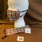 #58 SOLD  Plaid Holiday Masks  $5.00 each