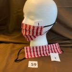 #59  Given to Medical Staff   Red Plaid Holiday Masks  $5.00 each
