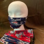 #6 Patriots Face Masks red or blue background $5.00 each 1-2-3-4