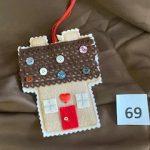 #69 Handmade Felt Christmas House ornament $3.00