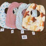 #77 Reversible Baby Bibs  $3.00 each