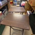 "#84 SOLD Two Wooden TV trays 14 1/2"" x19""  $6.00"