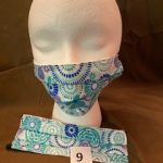 #9 Turquoise patterned Face Masks $5.00 each